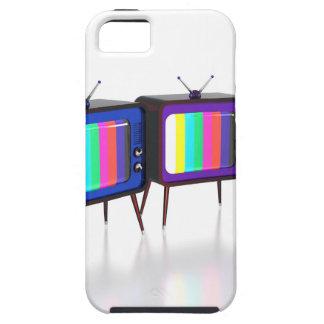 Colorful retro tv's iPhone SE/5/5s case