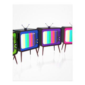 Colorful retro tv's letterhead