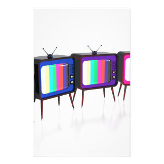 Colorful retro tv's stationery