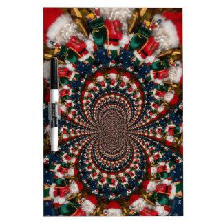 Colorful Retro Vintage Christmas presents Xmas gif Dry-Erase Board