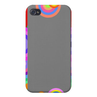Colorful Retro Wavy Dots iPhone 4/4S Covers
