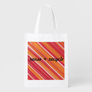 Colorful reuse recycle shopping bag