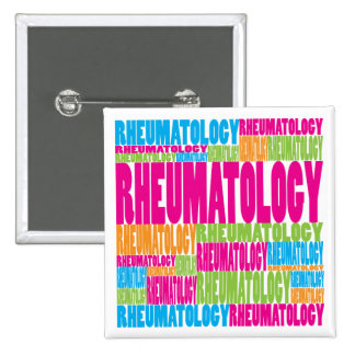 Colorful Rheumatology Pinback Button
