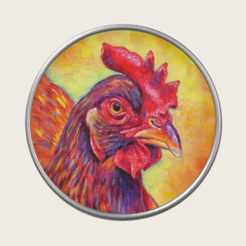 Colorful Rhode Island Red Chicken Candy Tin