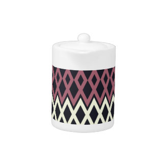 Colorful Rhombic Art Deco Pattern Teapot