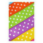 Colorful Ribbon Fun Personalized Stationery