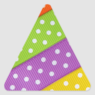 Colorful Ribbon Fun Triangle Sticker