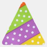 Colorful Ribbon Fun Triangle Stickers