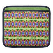 Colorful ribbon patterns iPad sleeve