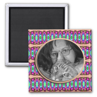 colorful ribbons 2 inch square magnet