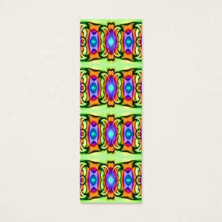 colorful ribbons bookmarks mini business card
