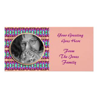colorful ribbons photo card