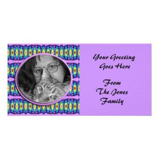 colorful ribbons photoframe card