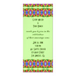 colorful ribbons  wedding invite