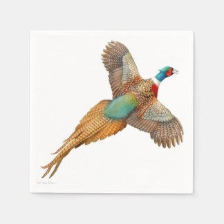 Colorful Ring Necked Pheasant Paper Napkins