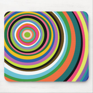 Colorful Rings Mousepad