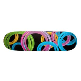 colorful rings skateboard
