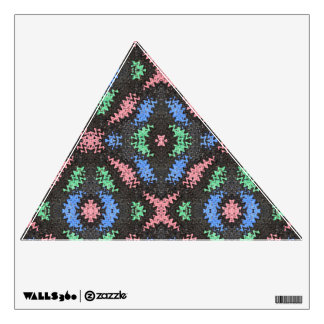 colorful ripple pattern wall sticker