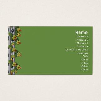 Colorful Ripples Big Transparent Business Card
