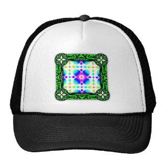 Colorful Ripples Big Transparent Mesh Hat