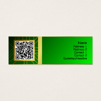 Colorful Ripples Big Transparent Mini Business Card