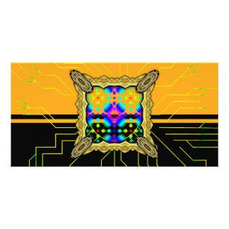 Colorful Ripples Big Transparent Customized Photo Card