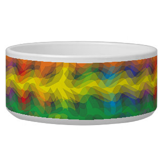 Colorful Ripples Dog Bowl Dog Food Bowl