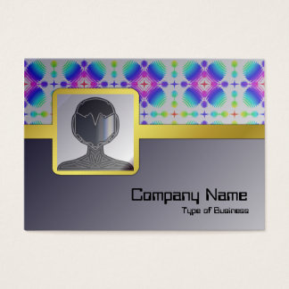 Colorful Ripples Small Transparent Business Card