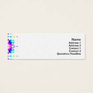 Colorful Ripples Small Transparent Mini Business Card