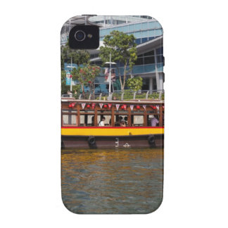 Colorful river cruise boat in Singapore iPhone 4 Case