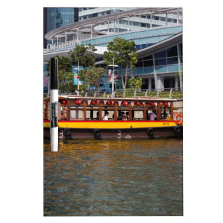 Colorful river cruise boat in Singapore Dry-Erase Board