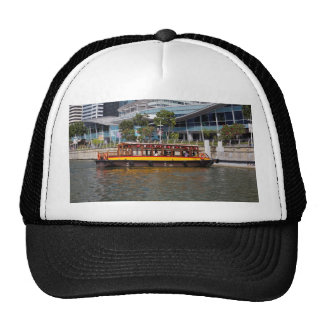 Colorful river cruise boat in Singapore Trucker Hat