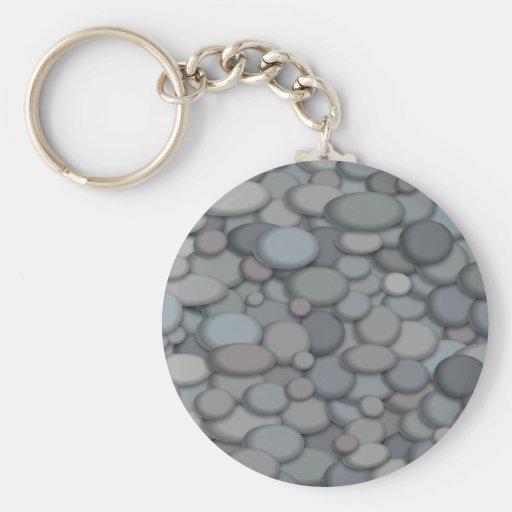 Colorful River Rock Pebbles Art Key Chains