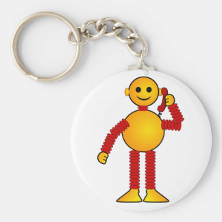 Colorful Robot Keychain
