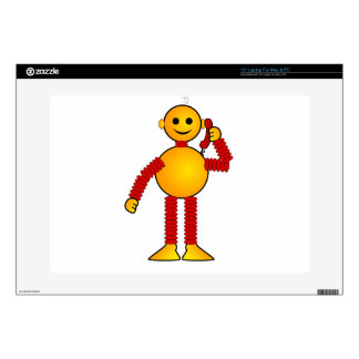 Colorful Robot Laptop Decal