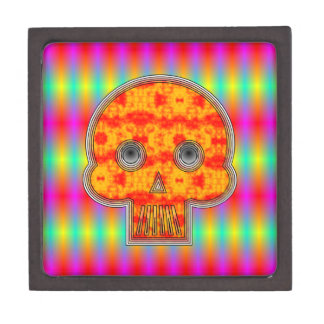 Colorful Robot Skull Jewelry Box