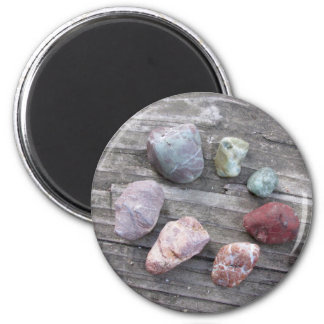 Colorful Rock Circle Magnet