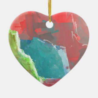 Colorful Rock  Formations Ceramic Ornament