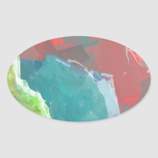 Colorful Rock  Formations Oval Sticker