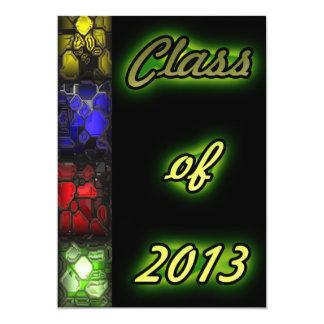 Colorful Rock Gems Graduate Add Photo 5x7 Paper Invitation Card