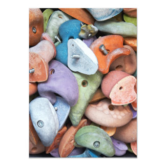 Colorful Rock Wall Attachments Card
