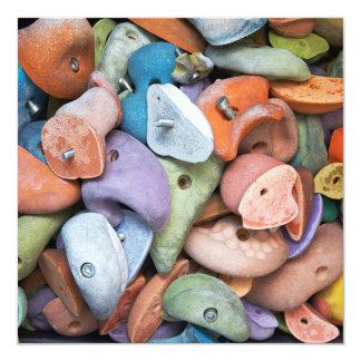 Colorful Rock Wall Attachments Invitation