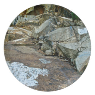 COLORFUL ROCKS IN KINGS CANYON MELAMINE PLATE