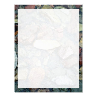 Colorful rocks in stream bed, Running Eagle Falls, Letterhead Template