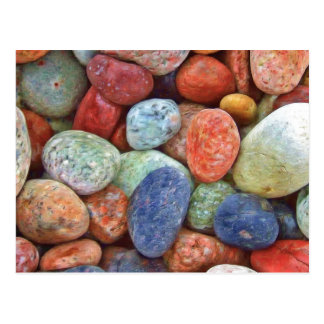 Colorful Rocks Postcard