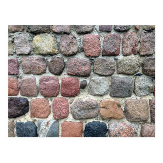 Colorful rocks wall design postcard