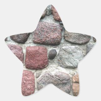 Colorful rocks wall design star sticker
