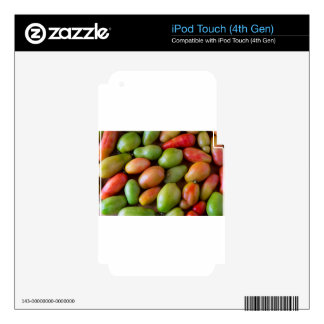 Colorful_Roma_Tomatoes Calcomanías Para iPod Touch 4G