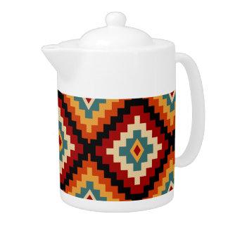 Colorful Romanian Folk Motifs Teapot