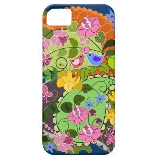 Colorful Romantic faux Vintage Floral & swirls iPhone SE/5/5s Case